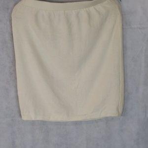ST JOHN off white knit knee length skirt size 6